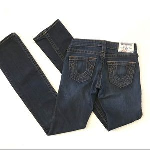 True Religion Medium Dark Wash Straight Leg Jeans